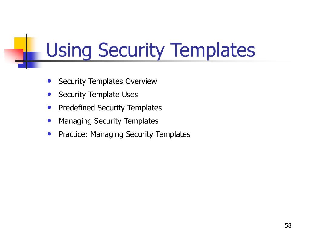 Using Security Templates