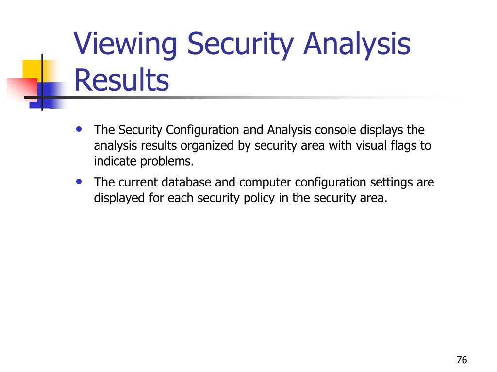 Viewing Security Analysis Results