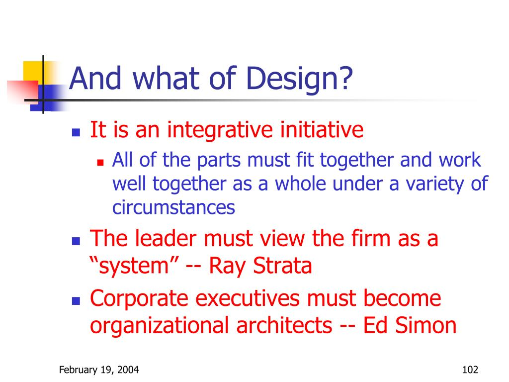 And what of Design?