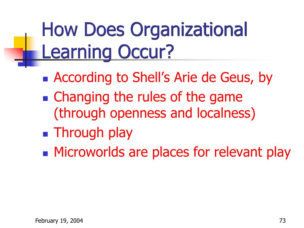How Does Organizational Learning Occur?