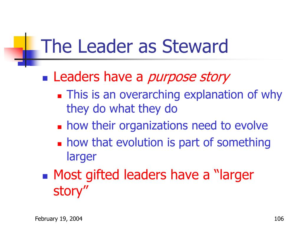 The Leader as Steward