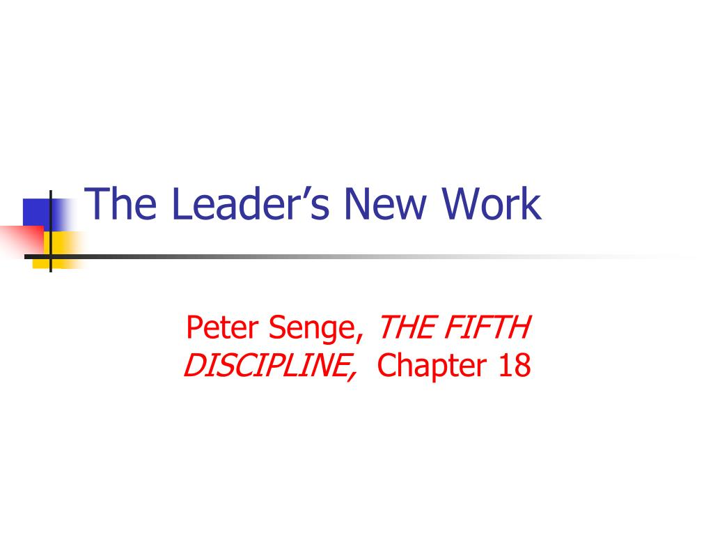The Leader's New Work