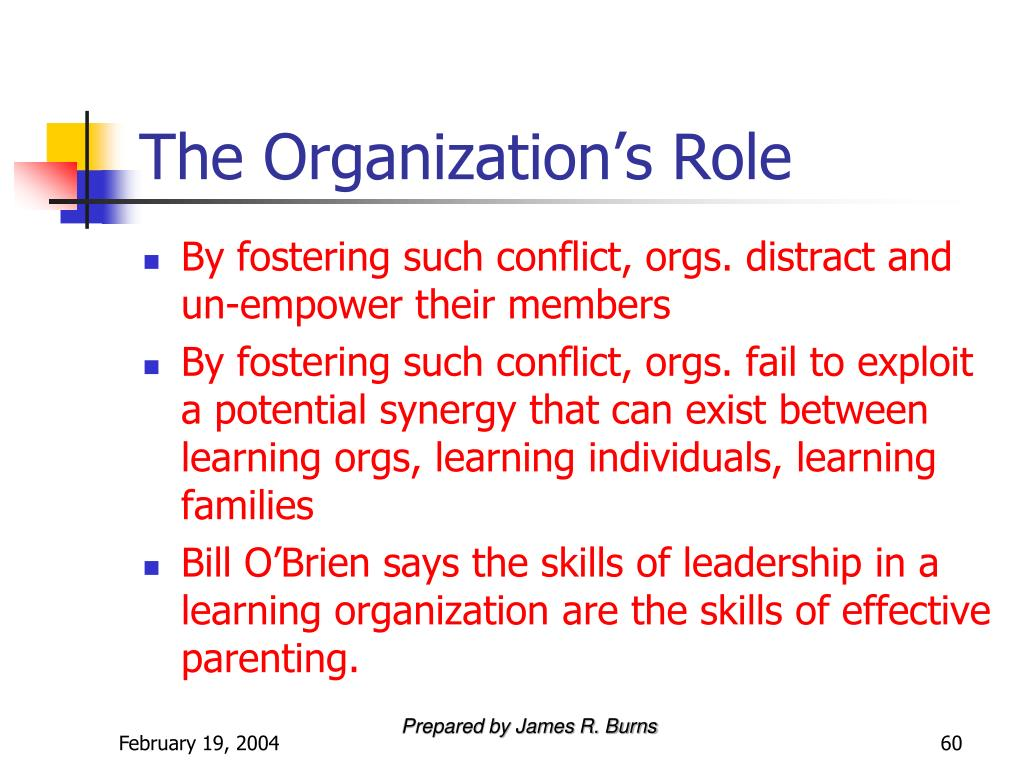 The Organization's Role