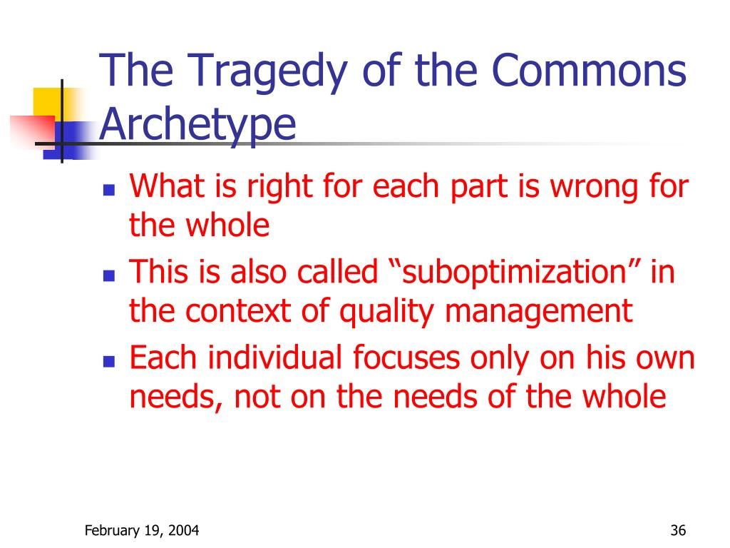 The Tragedy of the Commons Archetype