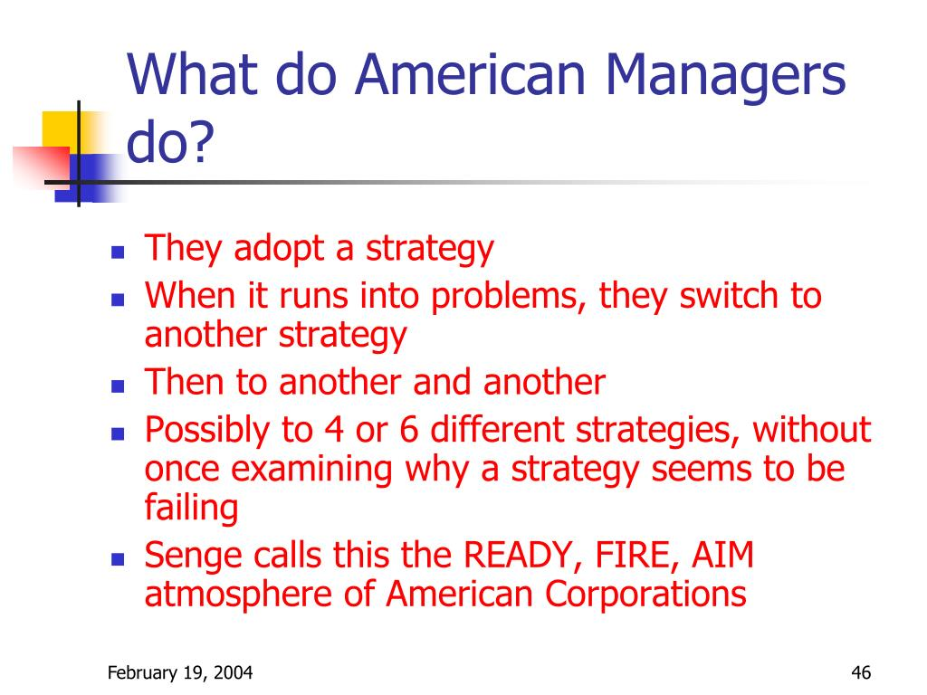 What do American Managers do?