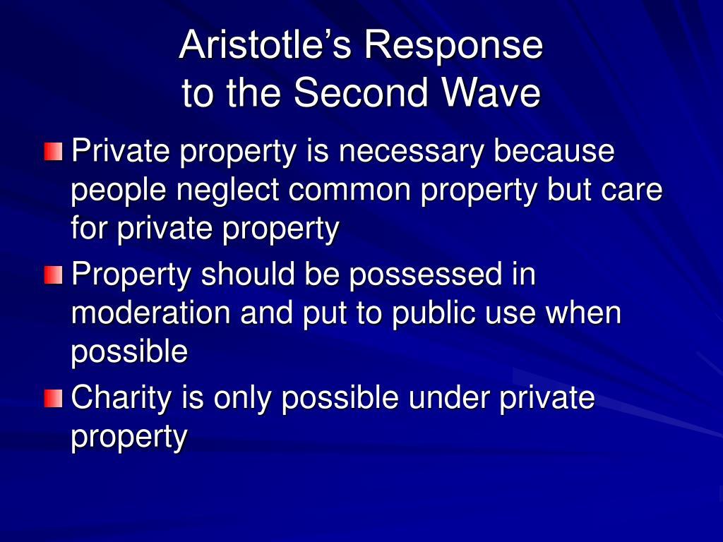 Aristotle's Response