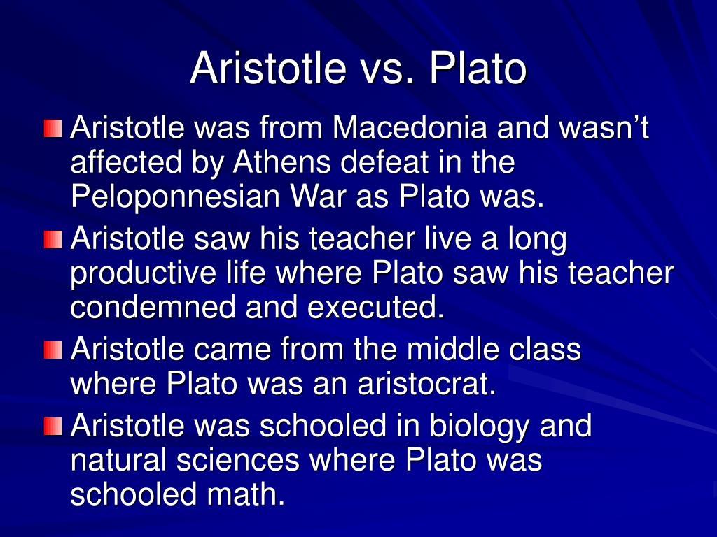 Aristotle vs. Plato
