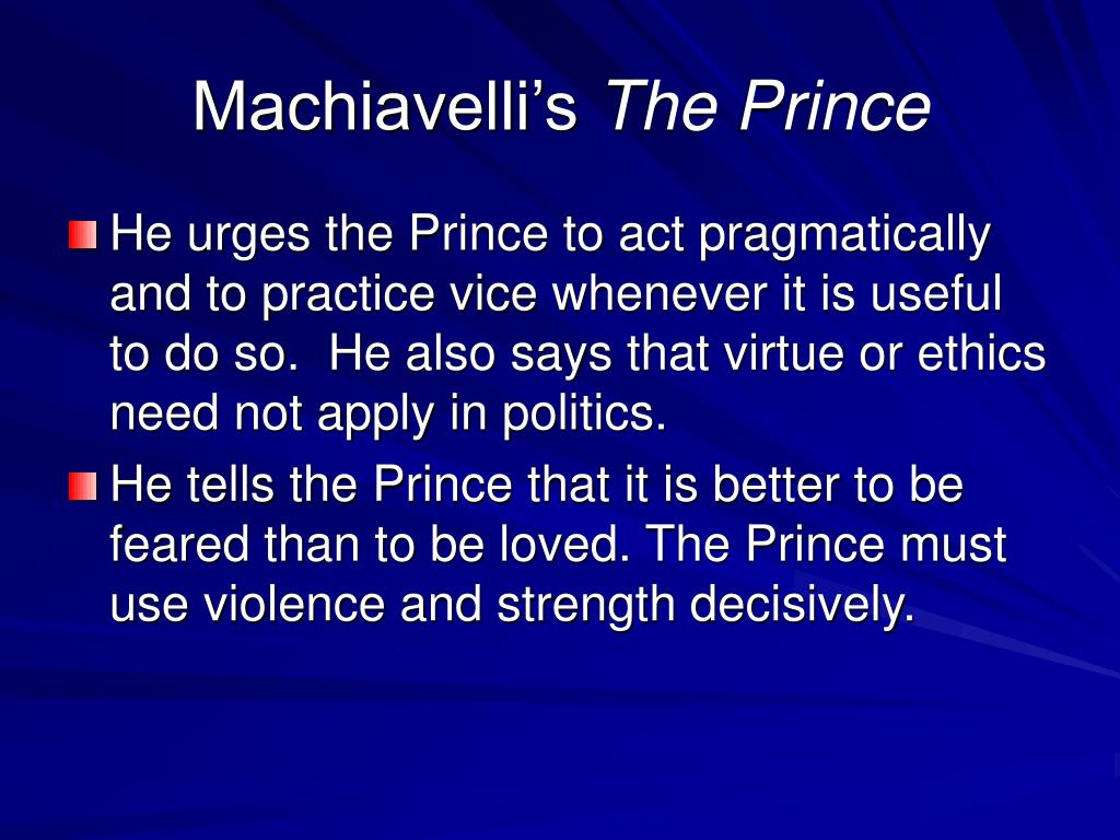 Machiavelli's