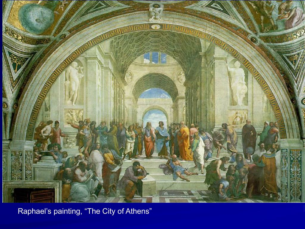 "Raphael's painting, ""The City of Athens"""