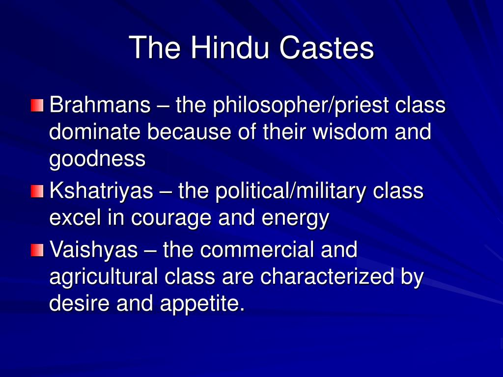 The Hindu Castes