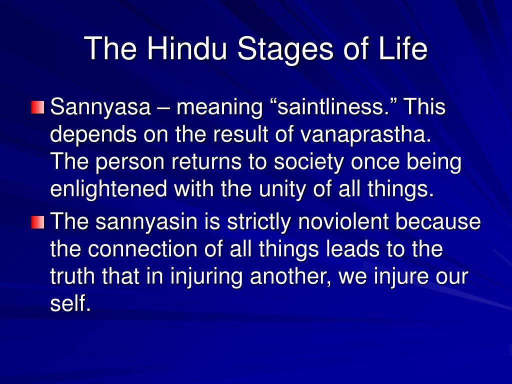 The Hindu Stages of Life