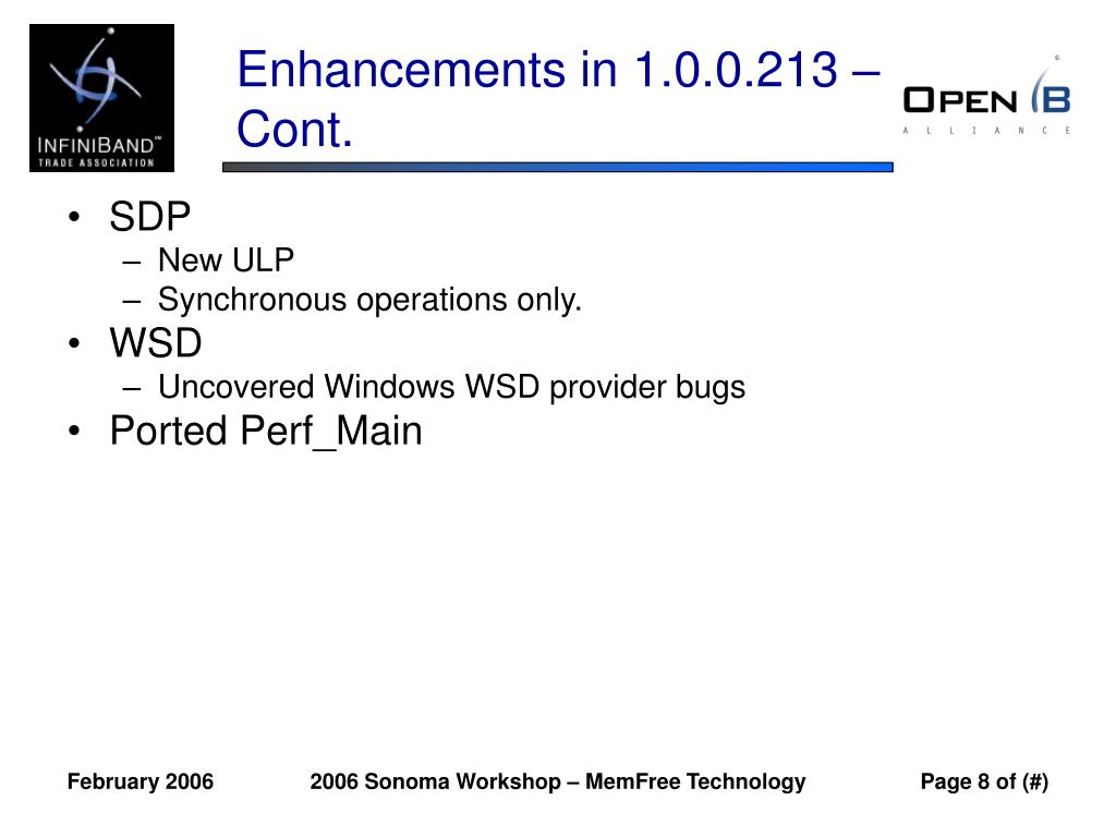 Enhancements in 1.0.0.213 – Cont.