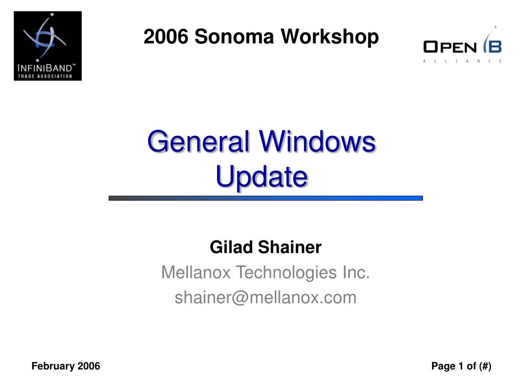 General Windows Update