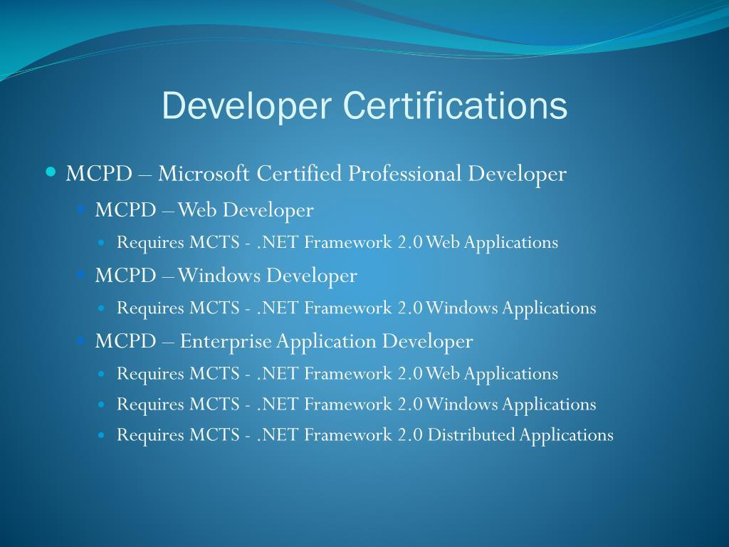 Developer Certifications