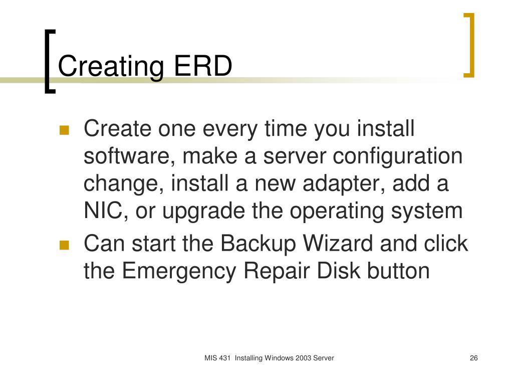 Creating ERD