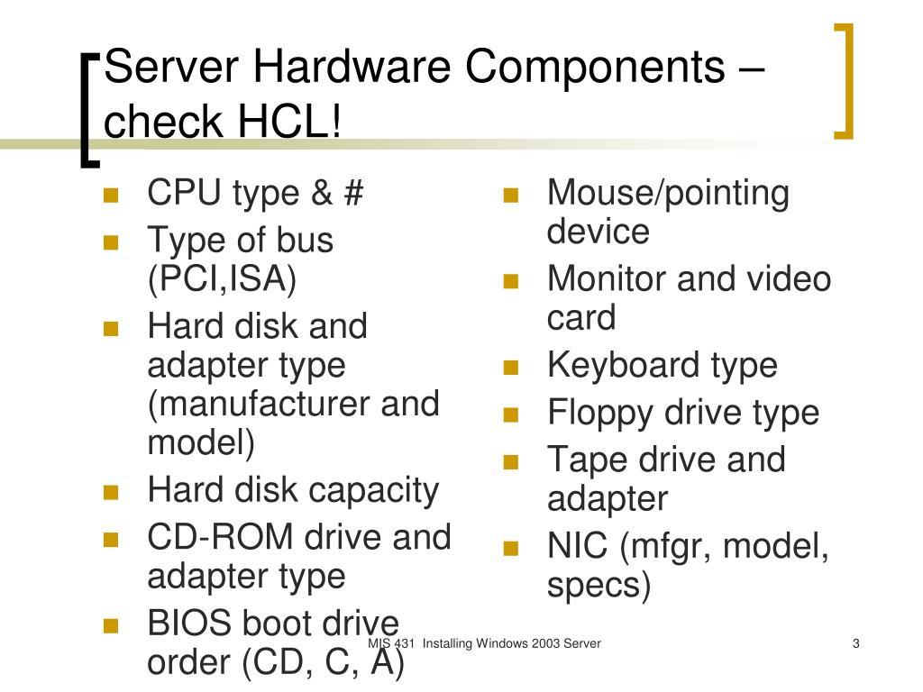 CPU type & #