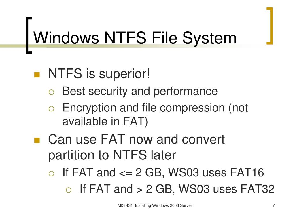 Windows NTFS File System