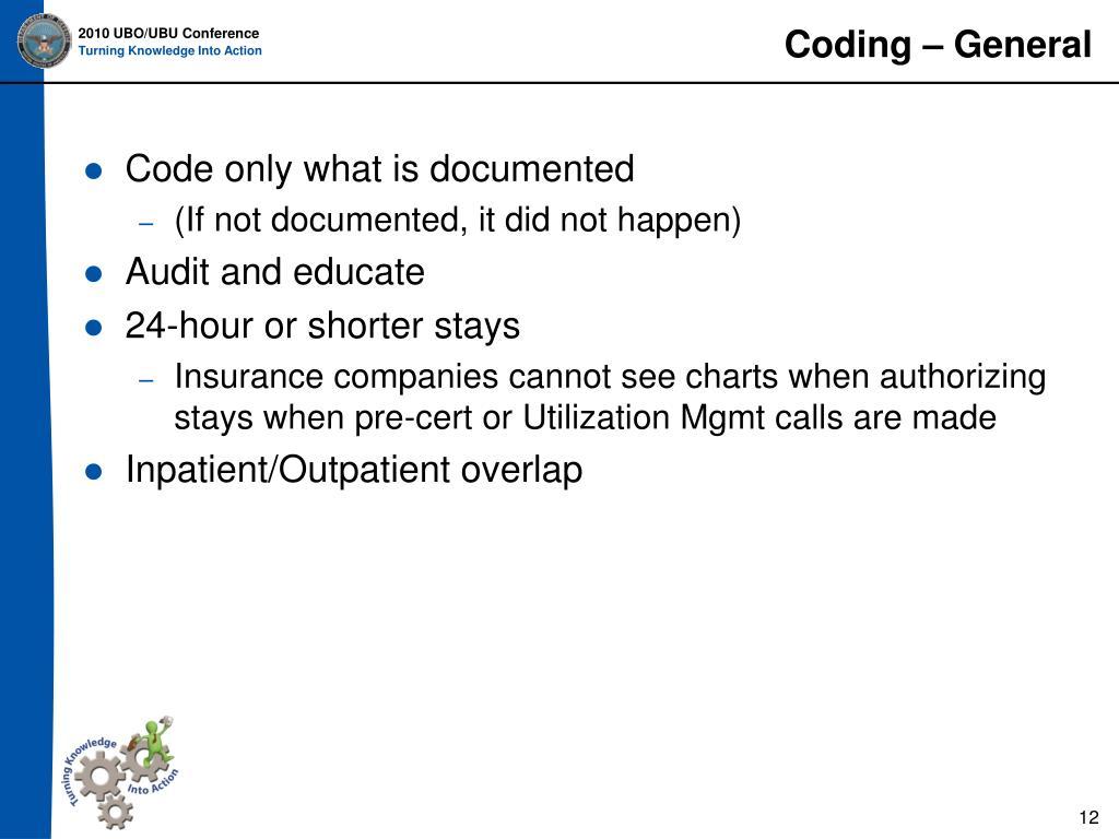 Coding – General