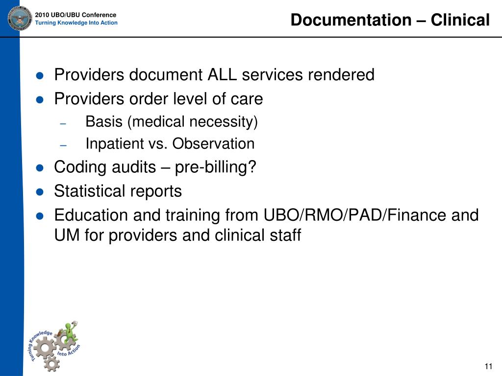 Documentation – Clinical