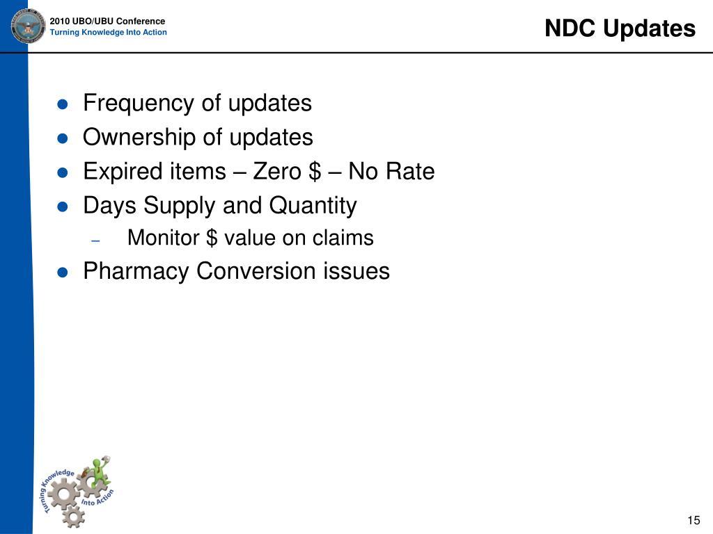 NDC Updates