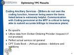 optimizing tpc results10
