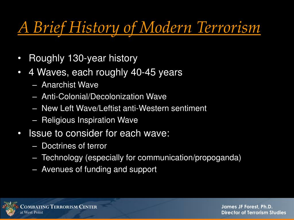 A Brief History of Modern Terrorism