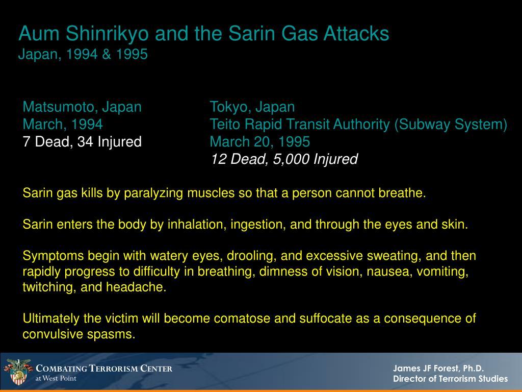 Aum Shinrikyo and the Sarin Gas Attacks
