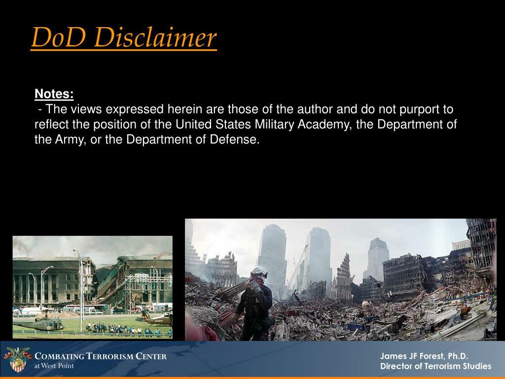 DoD Disclaimer