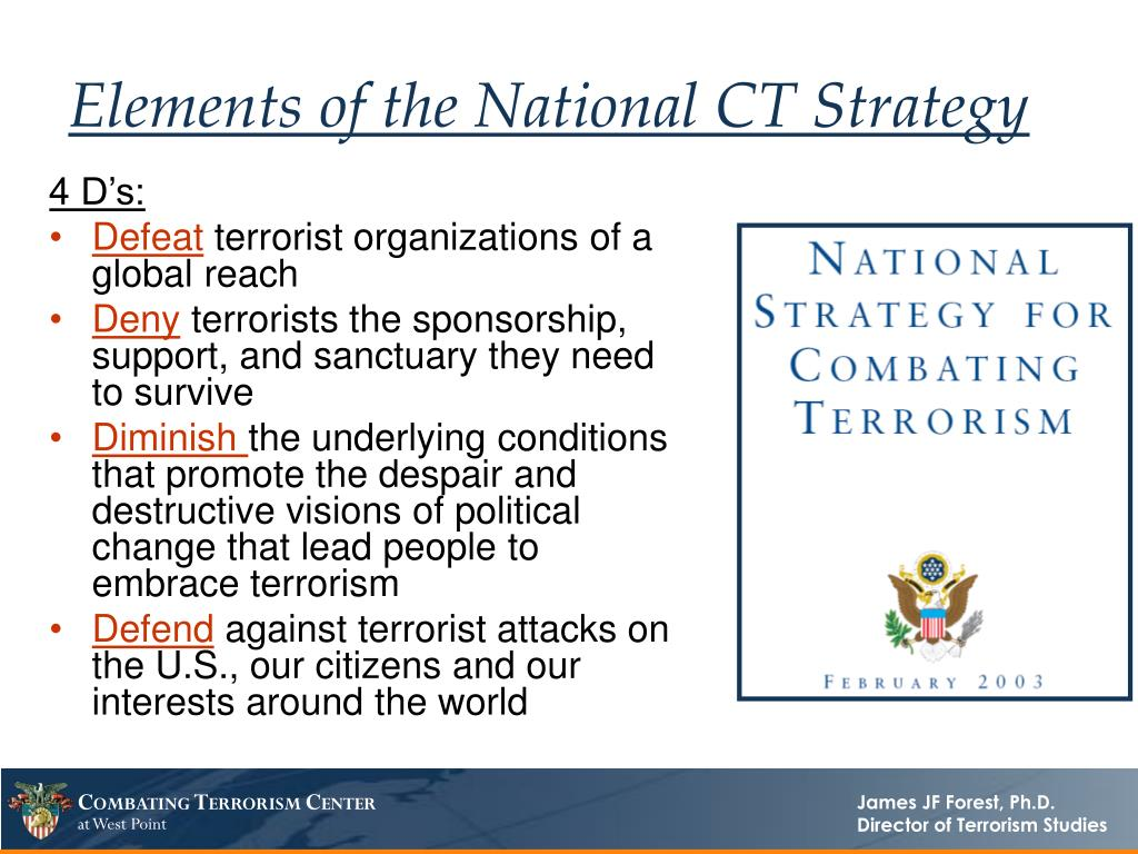 Elements of the National CT Strategy