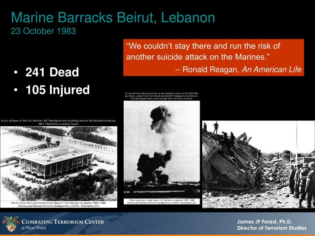 Marine Barracks Beirut, Lebanon