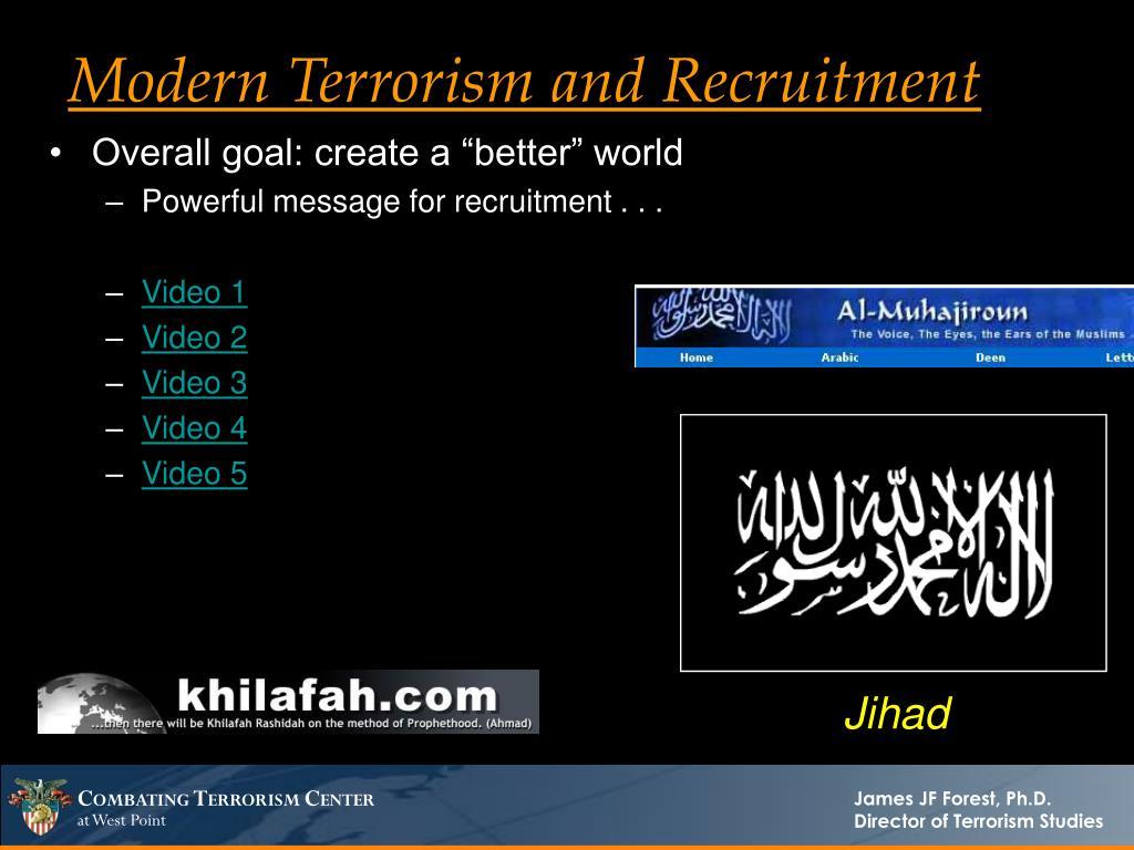 Modern Terrorism and Recruitment