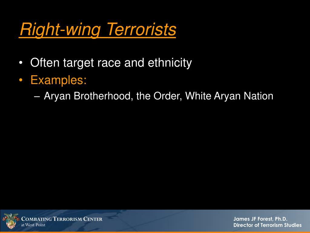 Right-wing Terrorists