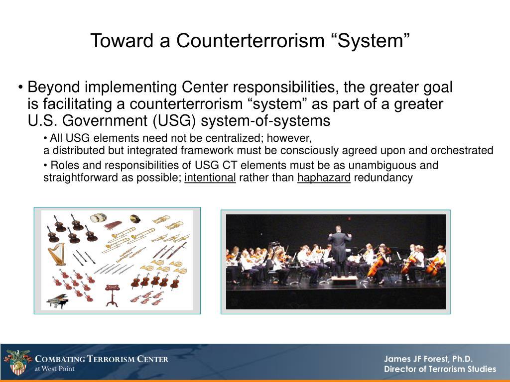 "Toward a Counterterrorism ""System"""