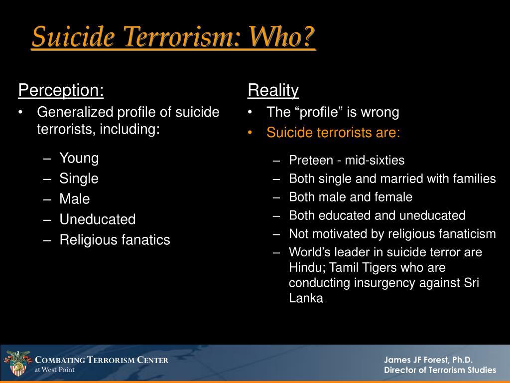 Suicide Terrorism: Who?