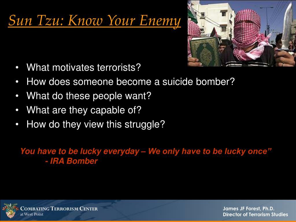 Sun Tzu: Know Your Enemy