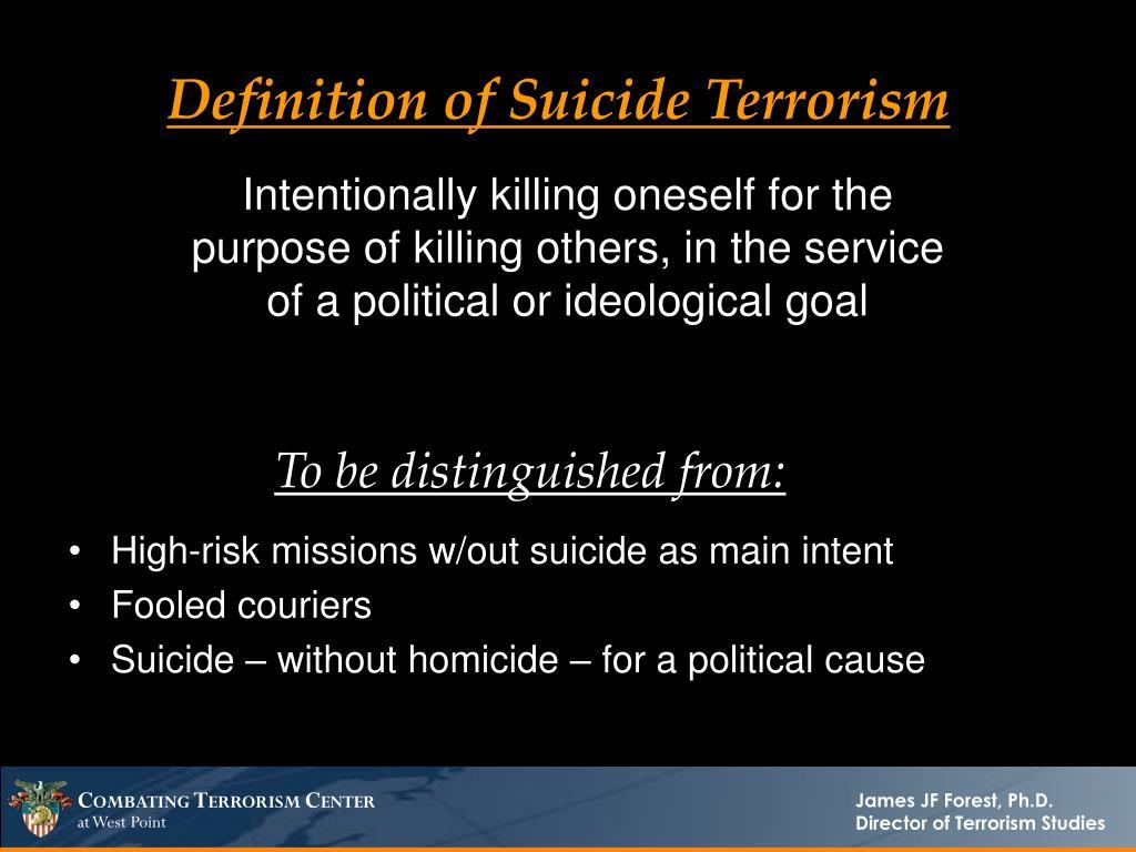 Definition of Suicide Terrorism