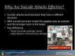 why are suicide attacks effective