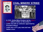coal miners strike