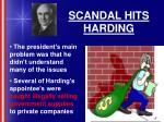 scandal hits harding