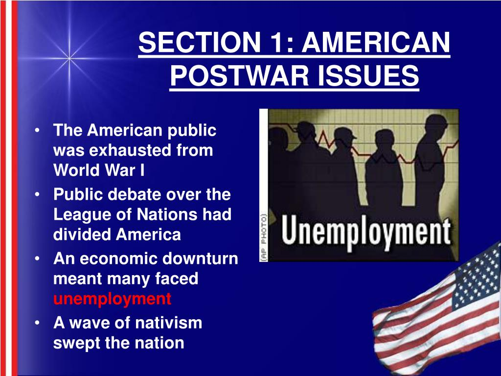SECTION 1: AMERICAN POSTWAR ISSUES