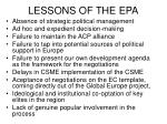 lessons of the epa17