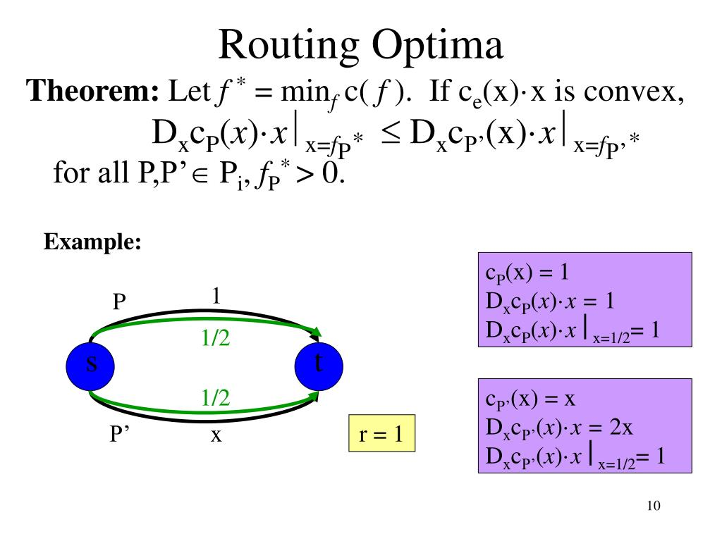 Routing Optima