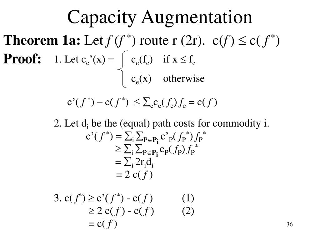 Capacity Augmentation