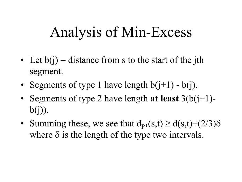 Analysis of Min-Excess