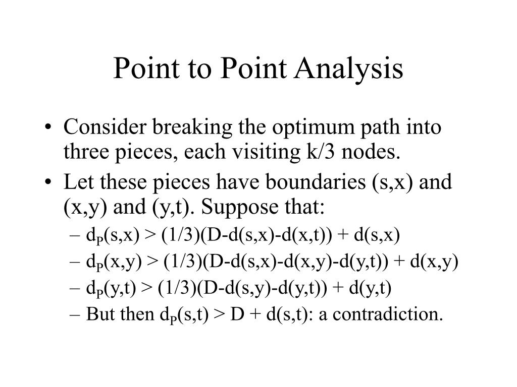 Point to Point Analysis
