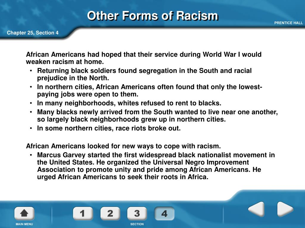 Other Forms of Racism