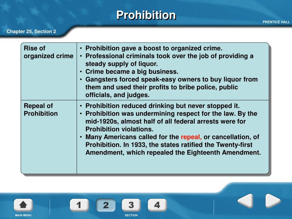 Rise of organized crime
