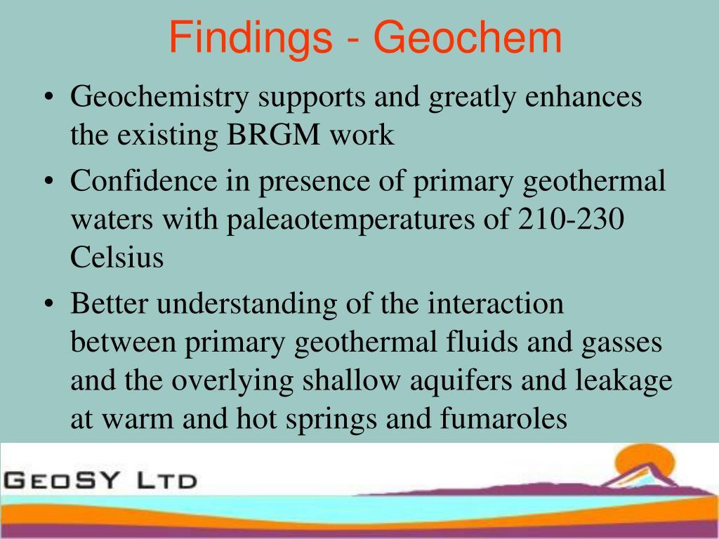 Findings - Geochem
