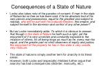 consequences of a state of nature