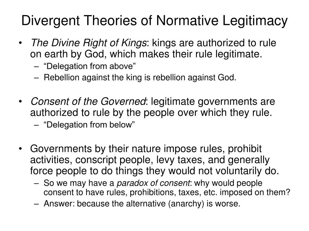Divergent Theories of Normative Legitimacy
